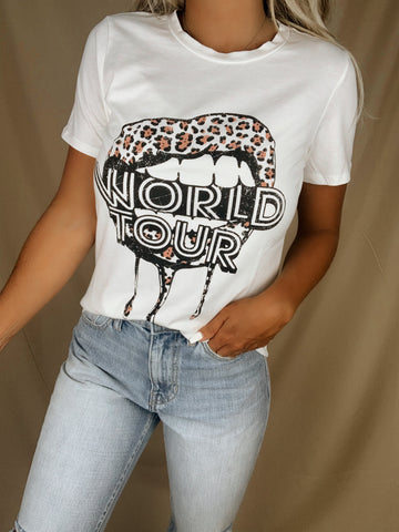 World Tour Lips Graphic Tee