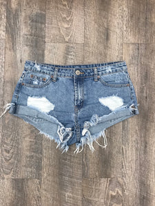 Desert Distressed Denim Shorts