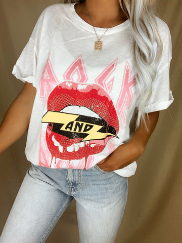 Rock And Roll Lips Graphic Tee