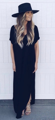 Wrapped In Love Black Dress
