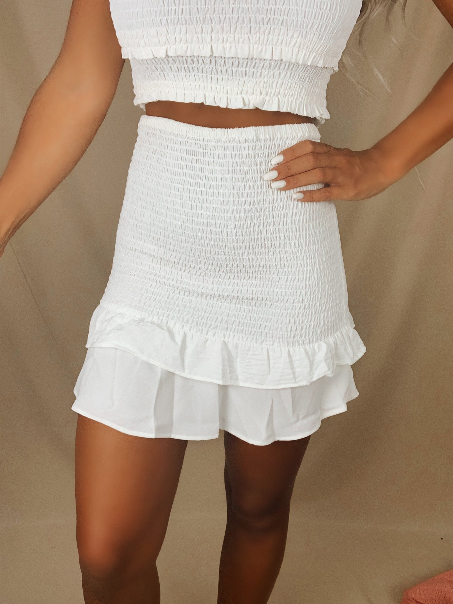 Sweet Bliss Skirt (White)