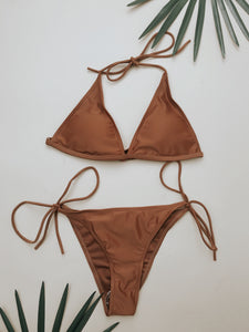 Toes in Sand Swimsuit Top (Rust)