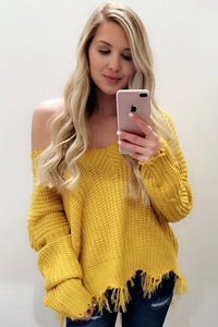 Don't Be A Frayed Sweater (Mustard)