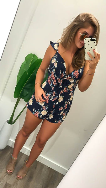 Floral Obsession (Navy)