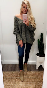 Tainted Love Knit Sweater (Olive)