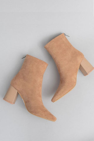 Sahara Suede Booties (Tan)