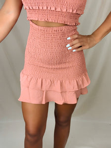 Sweet Bliss Skirt (Rust)