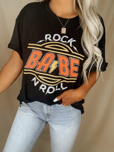 Rock And Roll Babe Graphic Tee