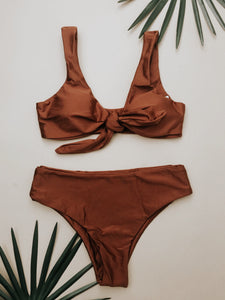 Surprise Getaway Swimsuit Top (Rust)