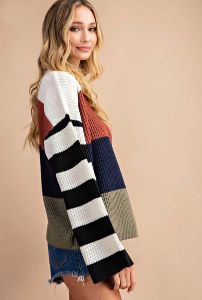 Caitlyn Colorblock Knit Sweater