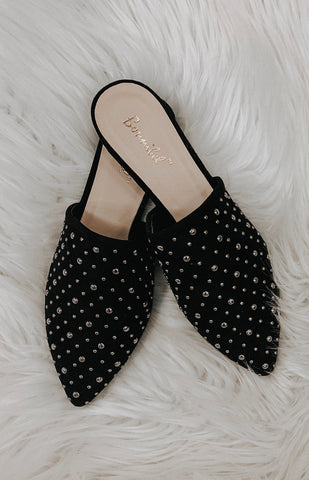 Remi Studded Mules (Black)
