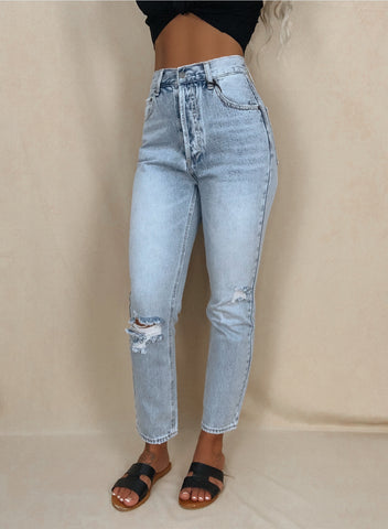 Avery High Waisted Boyfriend Jeans