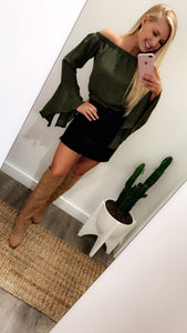 Feeling Free Top (Olive)