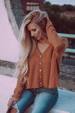 Dreamy Afternoon Thermal Top (Camel)