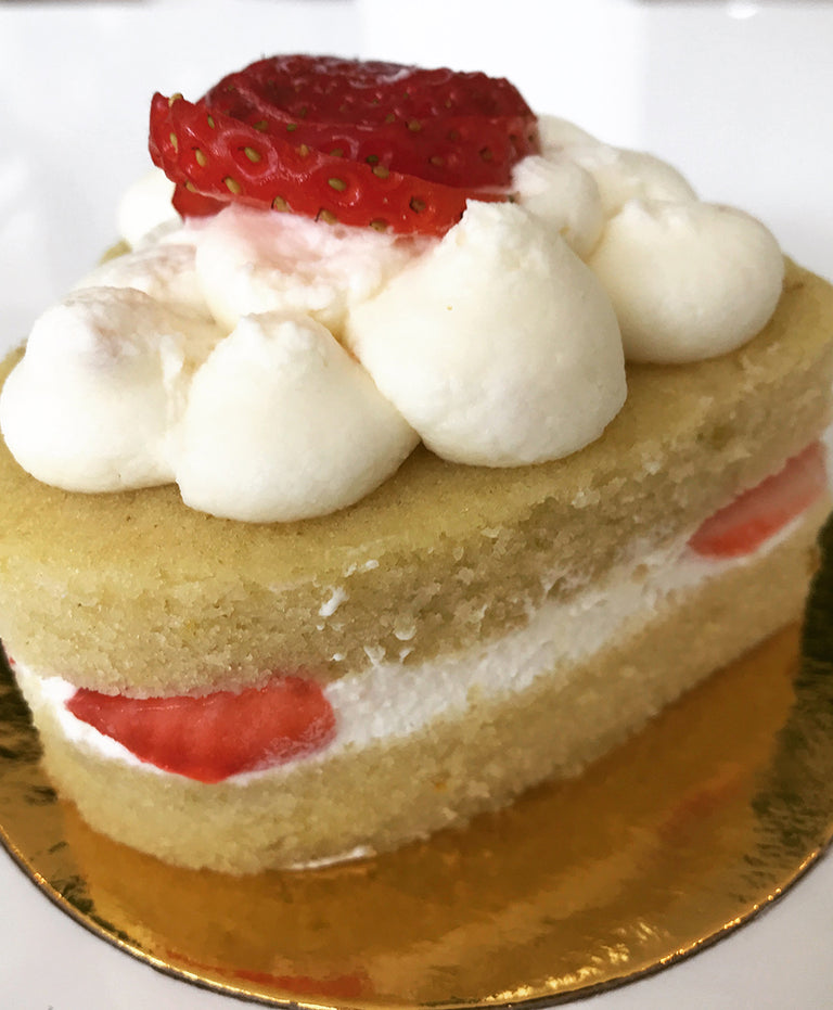 Individual Heart Strawberry Mascarpone Olive Oil Cake