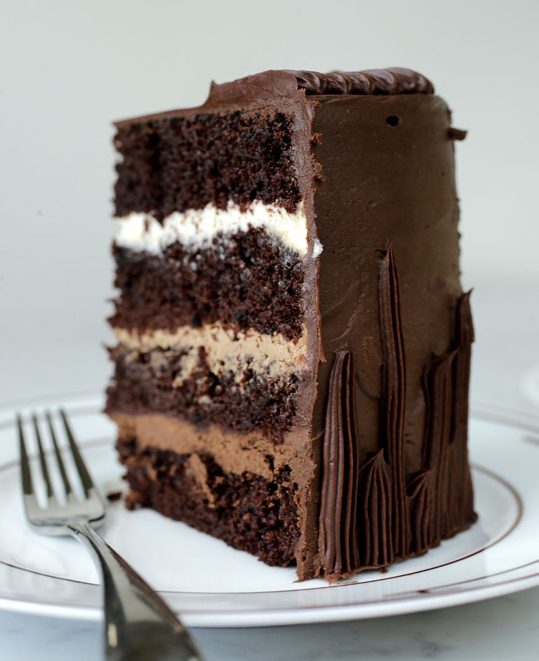 Gluten-free Triple Chocolate Cake with Chocolate Ganache