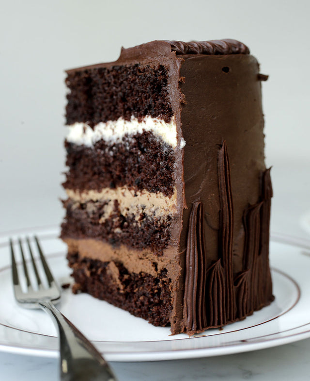 Triple Chocolate Cake with Chocolate Ganache