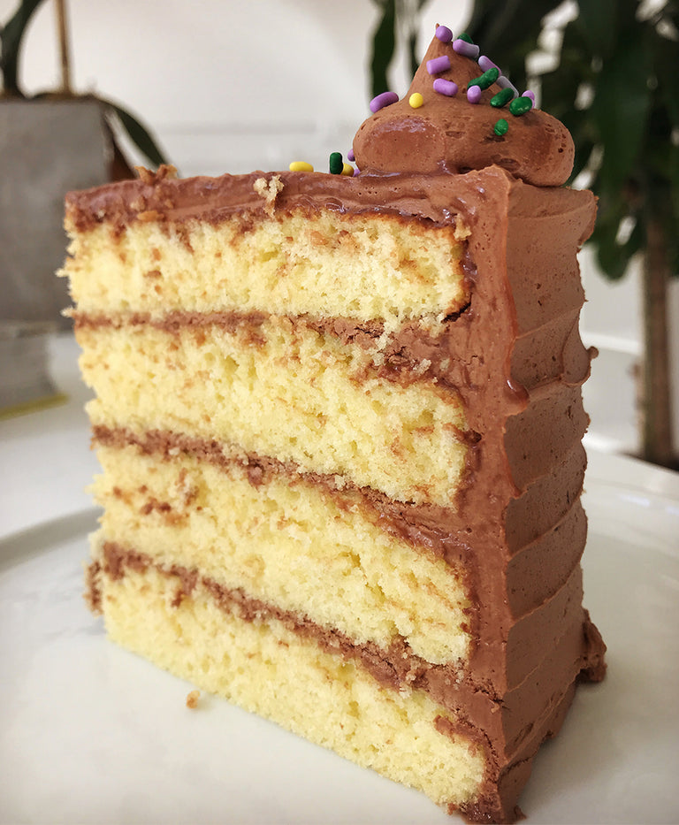 Classic Yellow Cake with Chocolate Buttercream