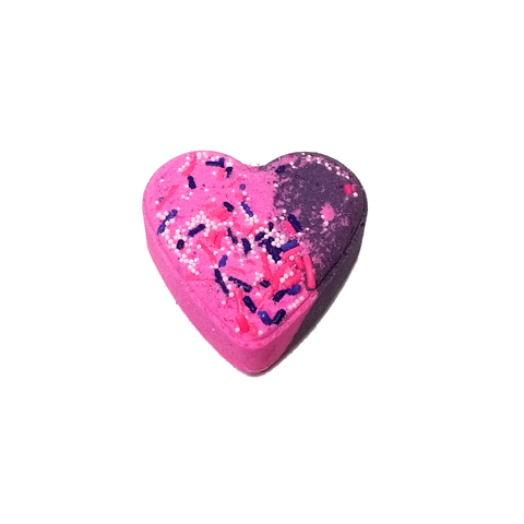 RTS - Black Raspberry Vanilla Heart Bath Bomb - All Natural 2.5oz