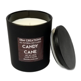 Candy Cane - 10oz Matte Black Jar All Natural Soy Candle
