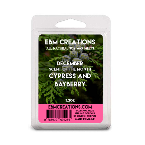 Cypress & Bayberry | December 2020 SOTM | 3.2 oz Clamshell