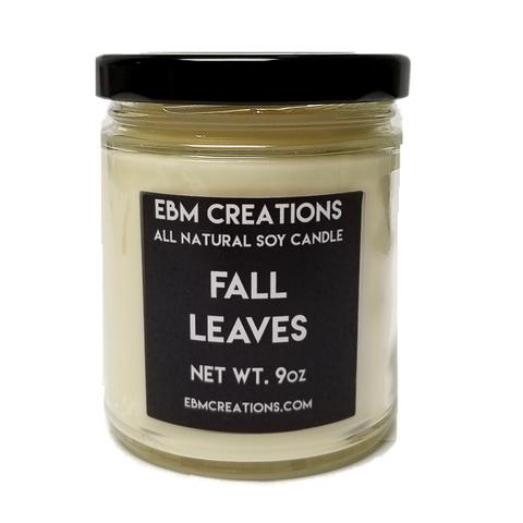 Fall Leaves - 9oz  All Natural Soy Candle