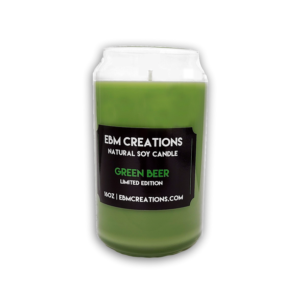 RTS- Green Beer Limited Edition! - 16oz Beer Glass Soy Candle