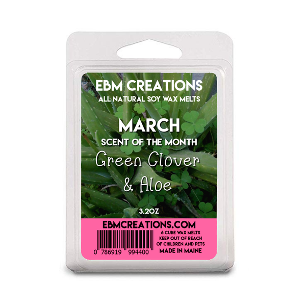 RTS - Green Clover & Aloe | March 2021 SOTM | 3.2 oz Clamshell