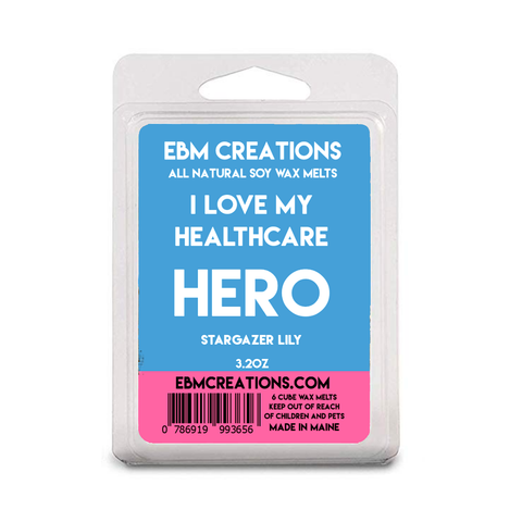 I Love My Healthcare HERO - Stargazer Lily Scent - 3.2 oz Clamshell