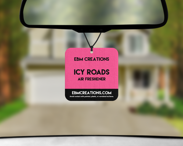 Icy Roads | Square Car Air Freshener