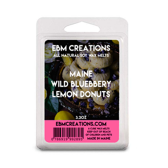 Maine Wild Blueberry Lemon Donuts - 3.2 oz Clamshell