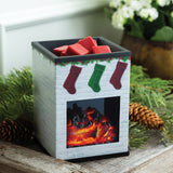 RTS - Holiday Fireplace - Ceramic Illumination Wax Warmer