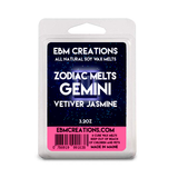 Gemini - Vetiver Jasmine Zodiac Melts - 3.2 oz Clamshell