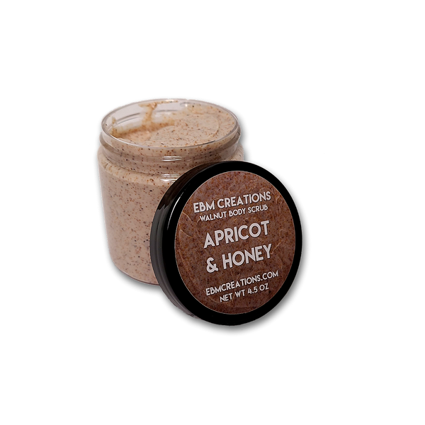 RTS - Apricot & Honey - 4.5oz Walnut Body Scrub