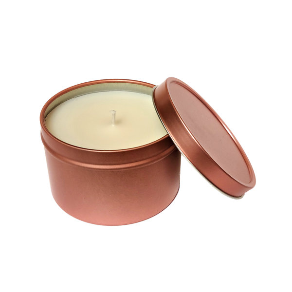 Cherry Champagne - 8oz Rose Gold Tin Soy Candle