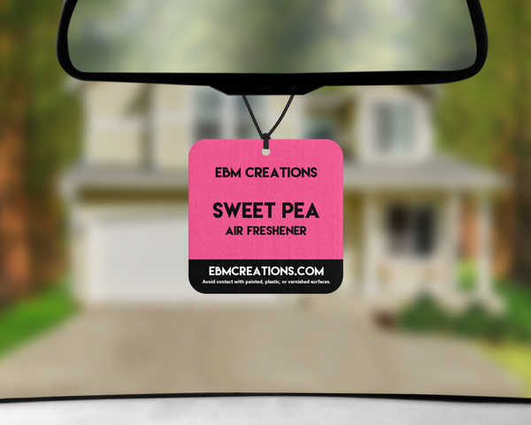 Sweet Pea | Square Car Air Freshener