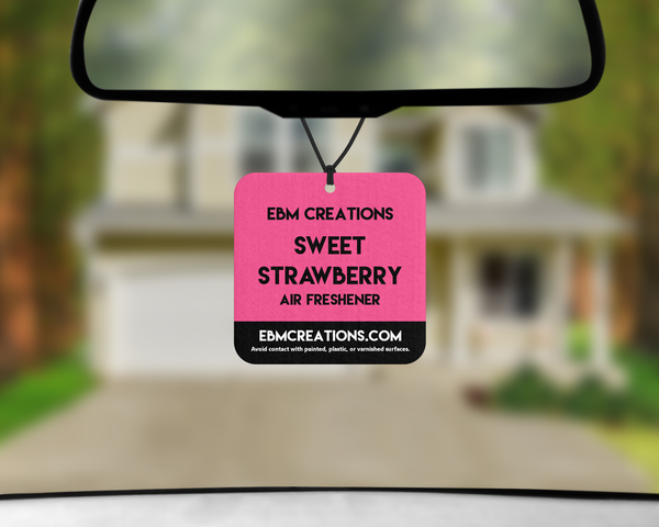 Sweet Strawberry | Square Car Air Freshener