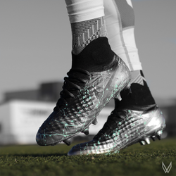 "Custom nike magista ""silver surfer"""