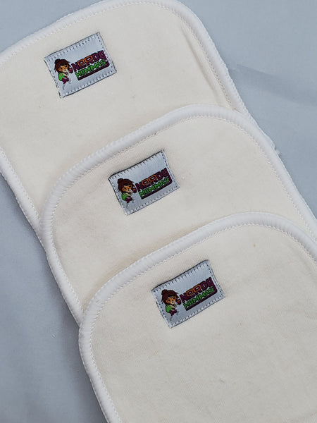4-layer hemp inserts for cloth diapering