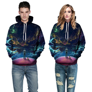Women and Men Autumn Winter 3D Printing Sweatshirt!