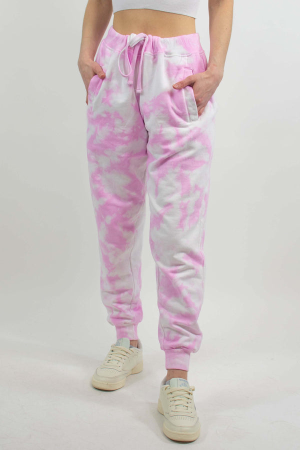 Let's Chill Pink Tie Dye Joggers