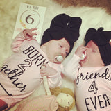 Twin Onesies - born 2 gether/ Friends 4 ever