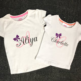 Custom name/initial tops
