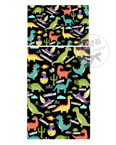 Custom Multi dinosaur blanket design