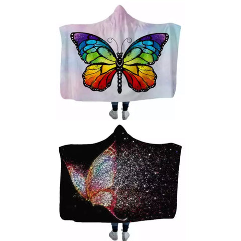 Butterfly hooded blankets (custom available)