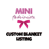 Custom blanket design listing