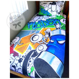 Custom graffiti blanket design
