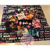 Custom BEST grandparent blanket design