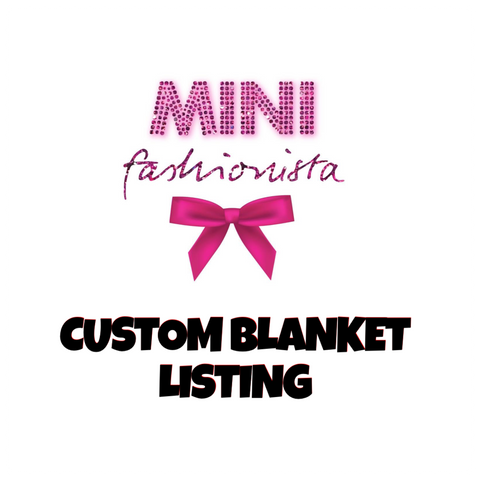 CUSTOM milestone blanket (inbox us first)