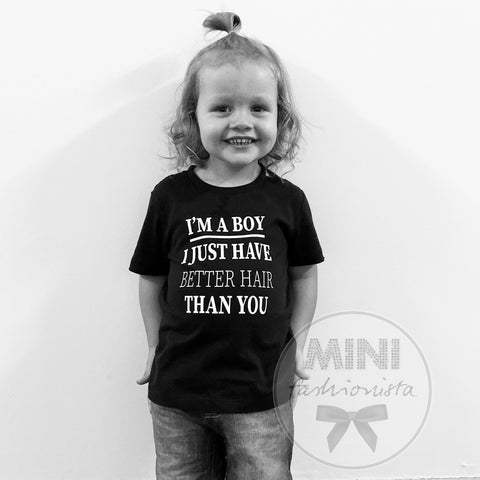 I'm a boy shirt / romper handmade custom design